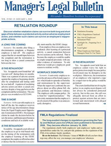 Managers Legal Bulletin
