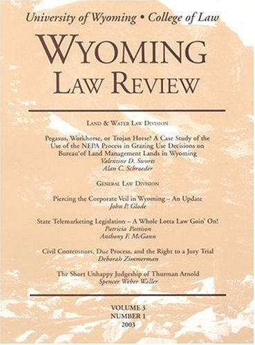 Wyoming Law Review
