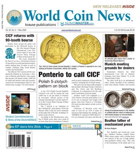 World Coin News (1-year auto-renewal)