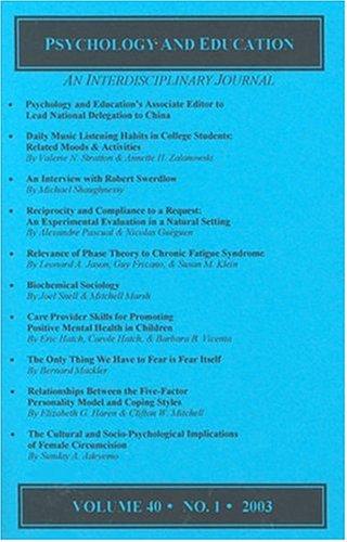 Psychology and Education – An Interdisciplinary Journal